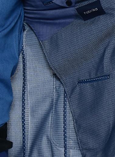 Fabrika Fabrika Şal Yaka Zımba Baskılı Cep Detaylı Uzun Kollu Koyu Erkek Ceket Lacivert